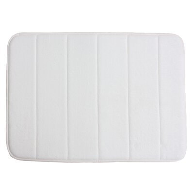 Taylor Memory Foam Bath Rug Color: White