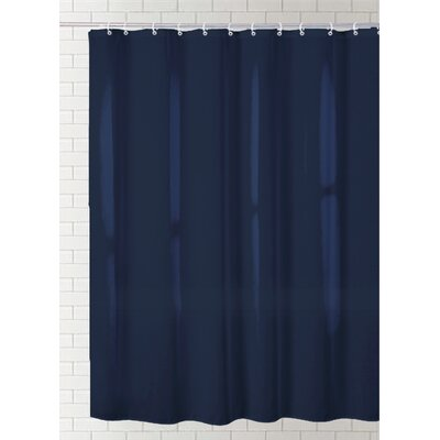 Cannaday Solid Vinyl Shower Curtain Color: Slate Blue