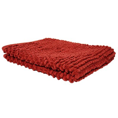 Marcie Popcorn Bath Rug Color: Paprika
