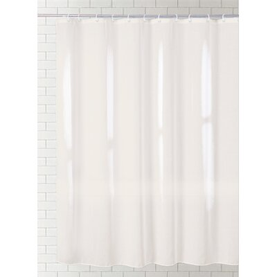 Cannaday Solid Vinyl Shower Curtain Color: Cream