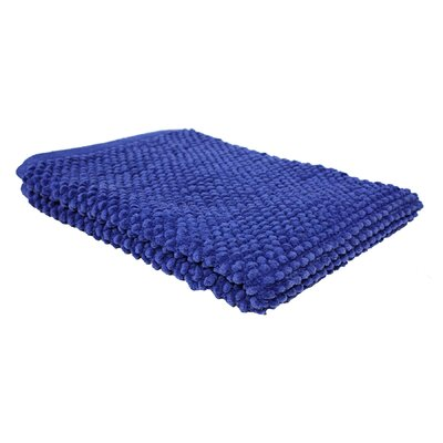 Marcie Popcorn Bath Rug Color: Royal Blue