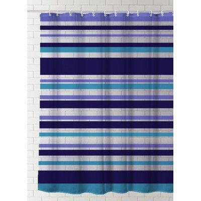 Destine Stripes Vinyl Shower Curtain