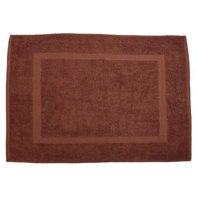 Amie Bath Rug Color: Chocolate