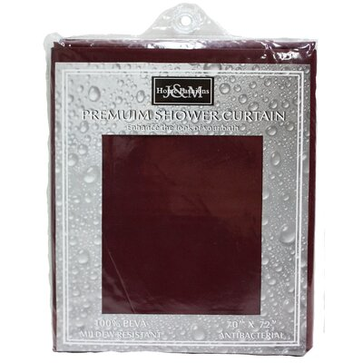 Cannaday Solid Vinyl Shower Curtain Color: Burgundy