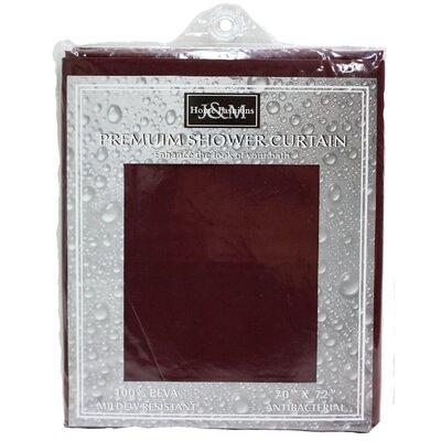 Solid Vinyl Shower Curtain Color: Burgundy