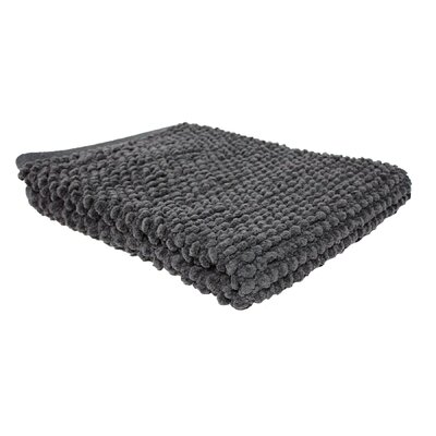 Marcie Popcorn Bath Rug Color: Dark Gray