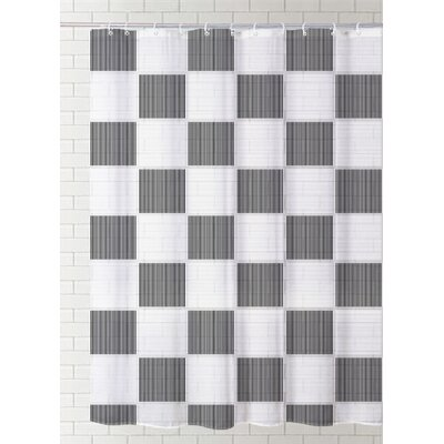 Destini Check Vinyl Shower Curtain