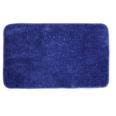 Lorrie Bath Rug Size: 0.5 H x 20 W x 33 D, Color: Royal Blue
