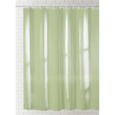 Cannaday Solid Vinyl Shower Curtain Color: Light Green
