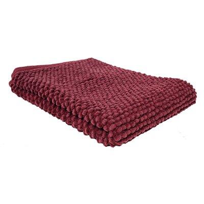 Marcie Popcorn Bath Rug Color: Cabernet