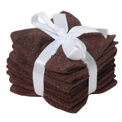 Heise Zero Twist Washcloth Towel Set Color: Coffee