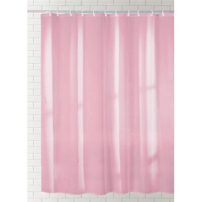 Solid Vinyl Shower Curtain Color: Rose
