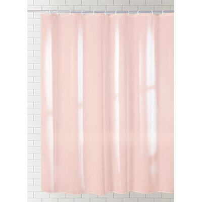 Solid Vinyl Shower Curtain Color: Dark Beige