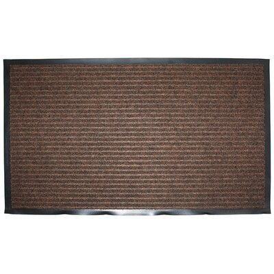 Wentworth Ribbed Walk Off Utility Mat Color: Brown