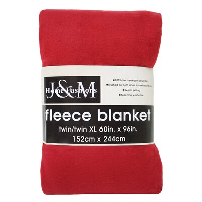Polar Fleece Blanket Color: Claret, Size: Full/Queen