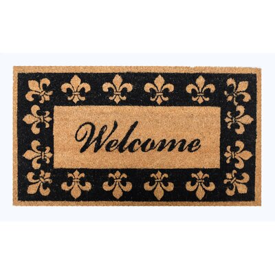 Brian Welcome Fleur De Lis Back Coco Doormat