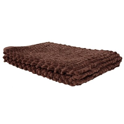 Marcie Popcorn Bath Rug Color: Chocolate