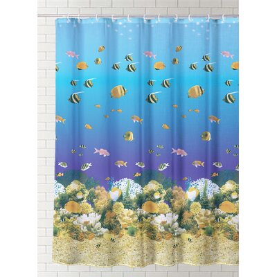 Eastpoint Underwater Vinyl Shower Curtain