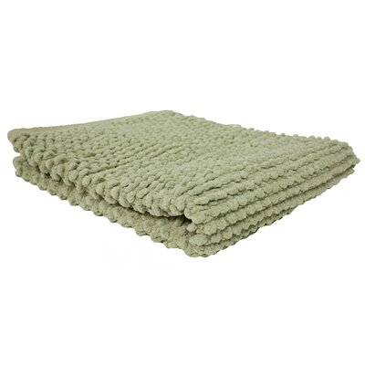Marcie Popcorn Bath Rug Color: Sage Green