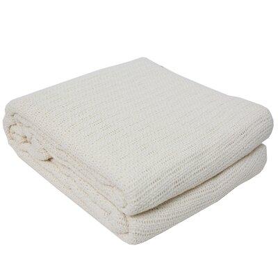 Cassan Thermal 100% Cotton Blanket Color: Ecru