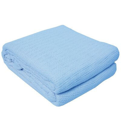 Cassan Thermal 100% Cotton Blanket Color: Light Blue