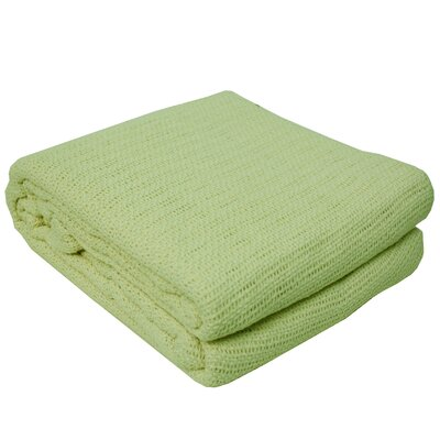 Cassan Thermal 100% Cotton Blanket Color: Green