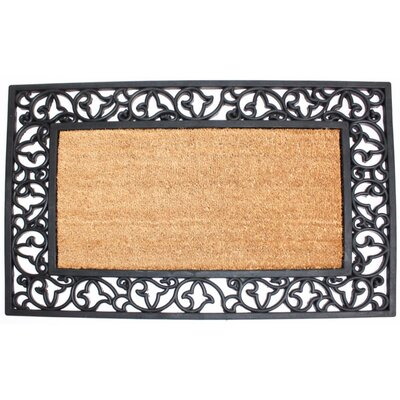 Scroll Plain Doormat Rug Size: Rectangle 2 x 3