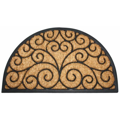 Heavy Doormat Rug Size: Half Round 16 x 26