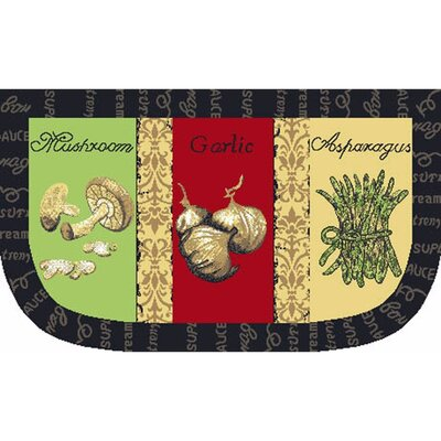 Garlic Slice Kitchen Mat