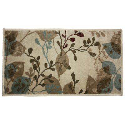Hula Flower Woven Kitchen Mat Rug Size: 26 x 42