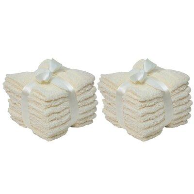 Zero Twist Washcloth Color: Cream