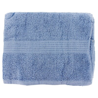27 x 52 Linen Provence Bath Towel, Smoke Blue (Set of 3)