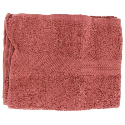 Linen Provence Bath Towel (Set of 3) Color: Cabernet
