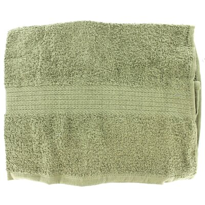 Linen Provence Bath Towel (Set of 3) Color: Olive Green