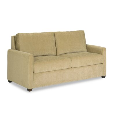 Somerset Sleeper Loveseat Upholstery: Key Largo Teal, Leg Finish: Walnut