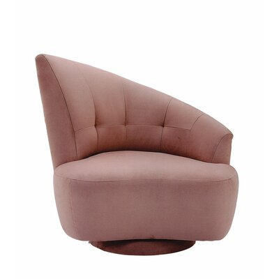 Odyssey Left Swivel Barrel Chair Fabric: Heather Suede Grey