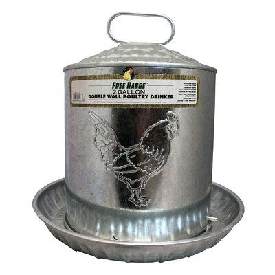 Nevin Metal Wall Chicken Water Fountain