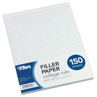 colored filler paper college ruled Staples&reg college ruled filler paper, 8 x 10-1/2, staples® college ruled  filler paper, 8 x 10-1/2, 120/pack (37427m) item : 772966 / model : 37427m.