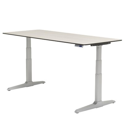 Sierra HX 58 x 23 Standing Desk Base Finish: Silver, Laminate Finish: Wild Cherry, Edge Finish: Rain Product Image 2547