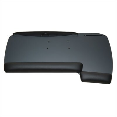 """workRite Reversible Keyboard Tray w/ Fixed Arm Mount (2 Pieces) -Tray Size:28""""x14.5"""", Tray Type/Color:Ultra Thin Black, Palm Support Mate"""