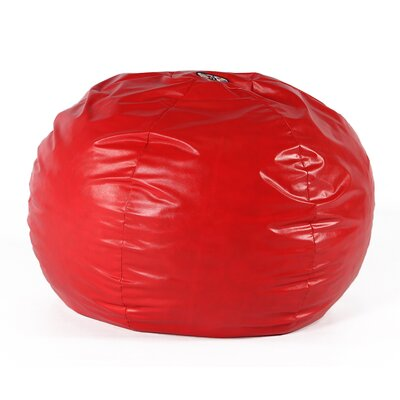 Wacky Sack Bean Bag Chair Upholstery: Red