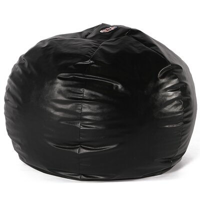 Big Wacky Sack Bean Bag Chair Upholstery: Black
