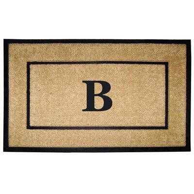 Frame Monogrammed Doormat Letter: B