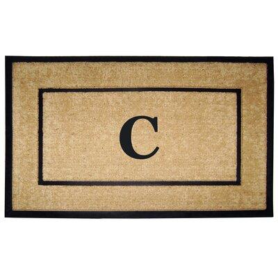 Frame Monogrammed Doormat Letter: C