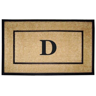 Frame Monogrammed Doormat Letter: D