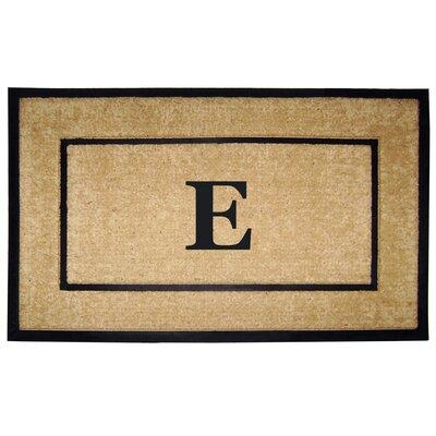 Frame Monogrammed Doormat Letter: E