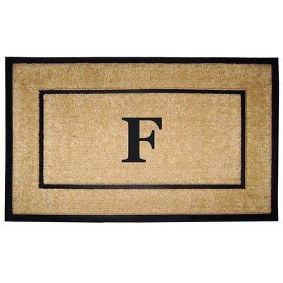 Frame Monogrammed Doormat Letter: F
