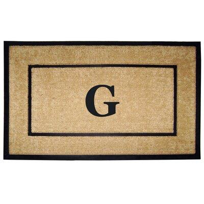 Frame Monogrammed Doormat Letter: G