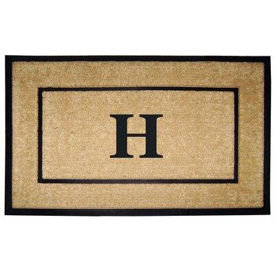 Frame Monogrammed Doormat Letter: H