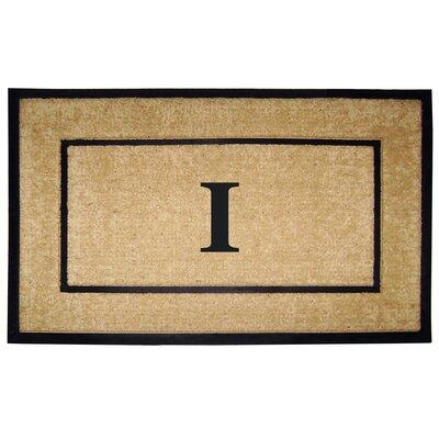 Frame Monogrammed Doormat Letter: I